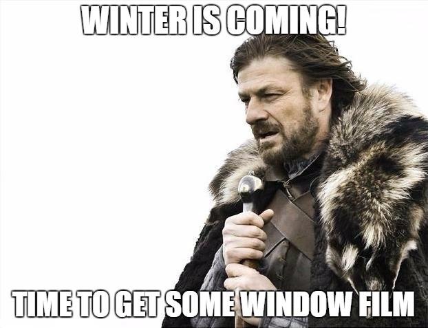 Winter benefits of window film