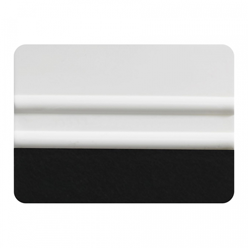 "4"" Lidco White Bondo Card With Felt Edge"