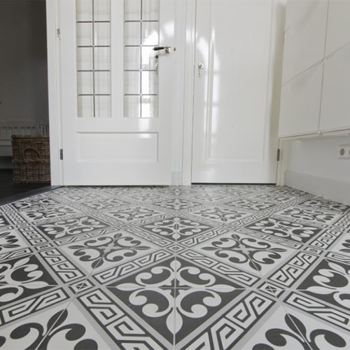 Grey and black ancient floor tiles pattern