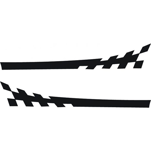 Racing Checkered Side Stripes Decals