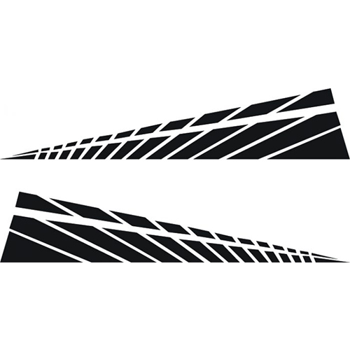 Racing Triangular Side Stripes