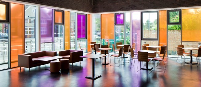 Rainbow Coloured Window Film