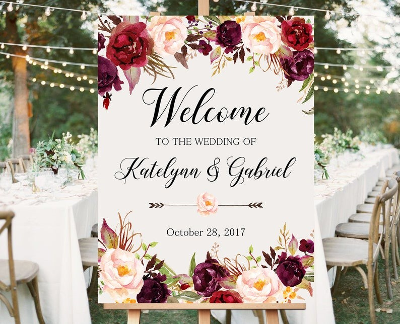 Signage for Weddings