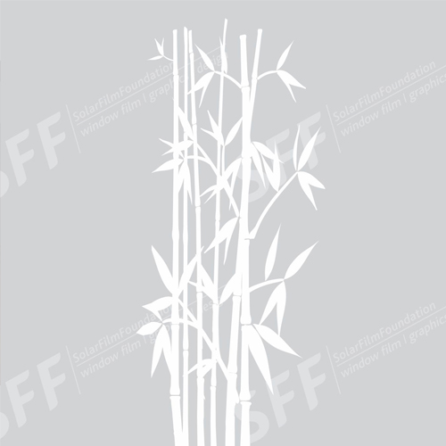 Bamboo stem with leaves