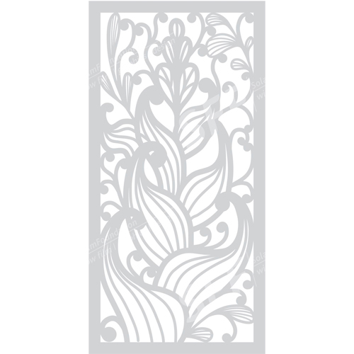 Flower Patter Glass Art